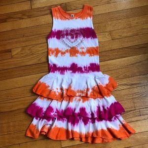 Tie dye pink and orange dress